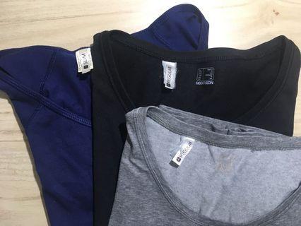 迪卡儂 深黑 素t短袖上衣 decathlon regular T-shirt #剁手時尚