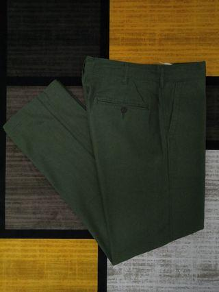 GU RELAXED COTTON LINEN PANTS SELUAR