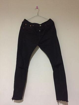 Levis 501 Black Jeans