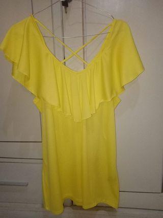 Yellow top baju pantai