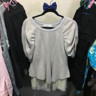 Crochet Lace Long Top / Mini Dress