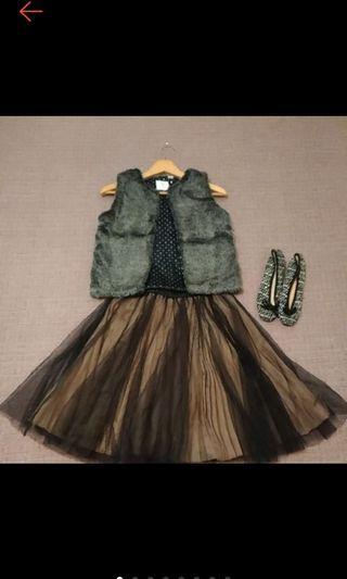 法國時尚 OBAIBI OKAIDI 銀灰毛毛 短版背心 毛背心 近全新 12