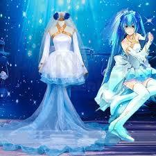 RENT/SALE Vocaloid Miku Demon's Wedding Cosplay Costume