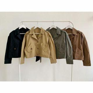 Bomber Jacket Buttoned Crop Oversize Jacket B3197 jaket polos wanita jaket casual outer casual outer crop outer simpel