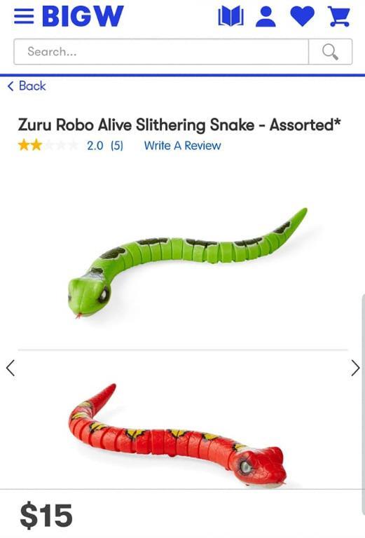 3x  Zuru Robo Alive creatures, interactive, moving Dinosaur Snake Lizard