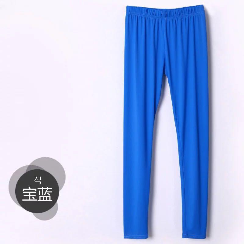 超薄冰絲寶藍打底褲