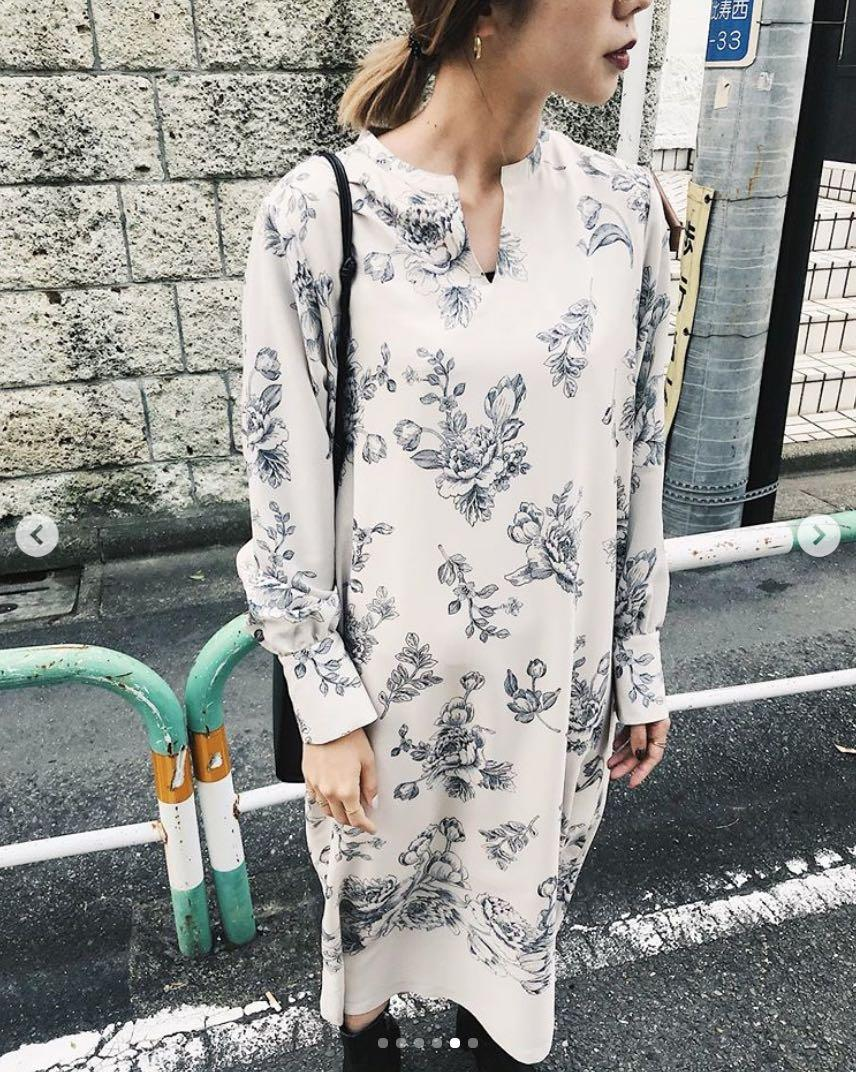 (🇯🇵日本代購)日幣¥13,000円【AMERI】代官山知名品牌夢幻逸品復古優雅花朵白洋裝
