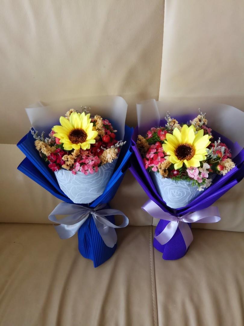 向日葵(絲花)+鮮花花束 💞😘💐現貨   即買即用💨   只限一束