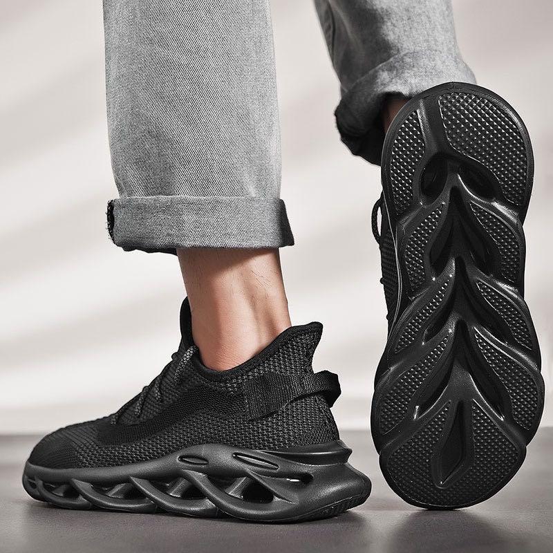男鞋 運動鞋 新款飛織 反光 超轻 超彈 大码麻花底 慢跑鞋 健身房鞋 休閒鞋 旅遊鞋 戶外鞋 登山鞋
