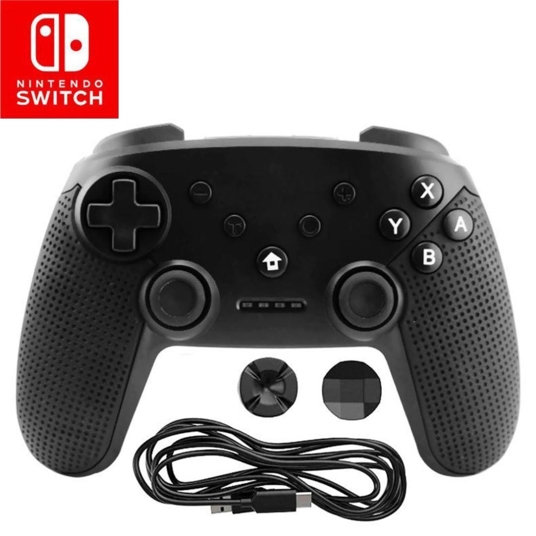 全新 任天堂 Nintendo Switch 專用 🎮 無線手制 🎮 帶截屏震動六軸藍牙連接 含陀螺儀加速器 支援PS3 / Android / PC 黑色