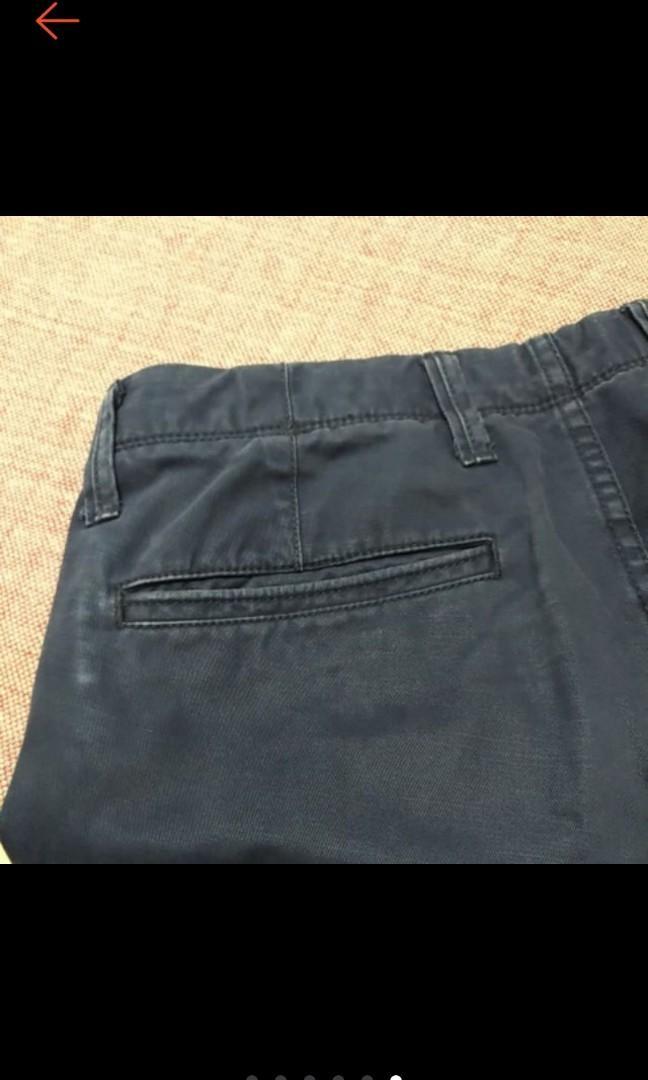 美國 GAP 美式休閒 型男 水洗 純棉 藍色 slim 修身休閒褲 卡其褲