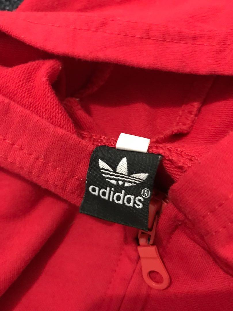 Adidas jumpsuit sleepsuits hoodie red merah