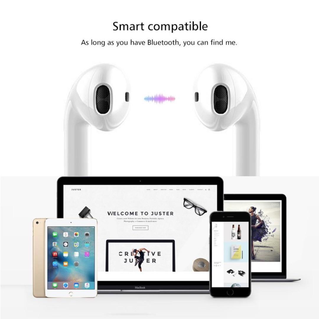 Bluetooth 5.0 Wireless Earphones Earpieces mini With Mic
