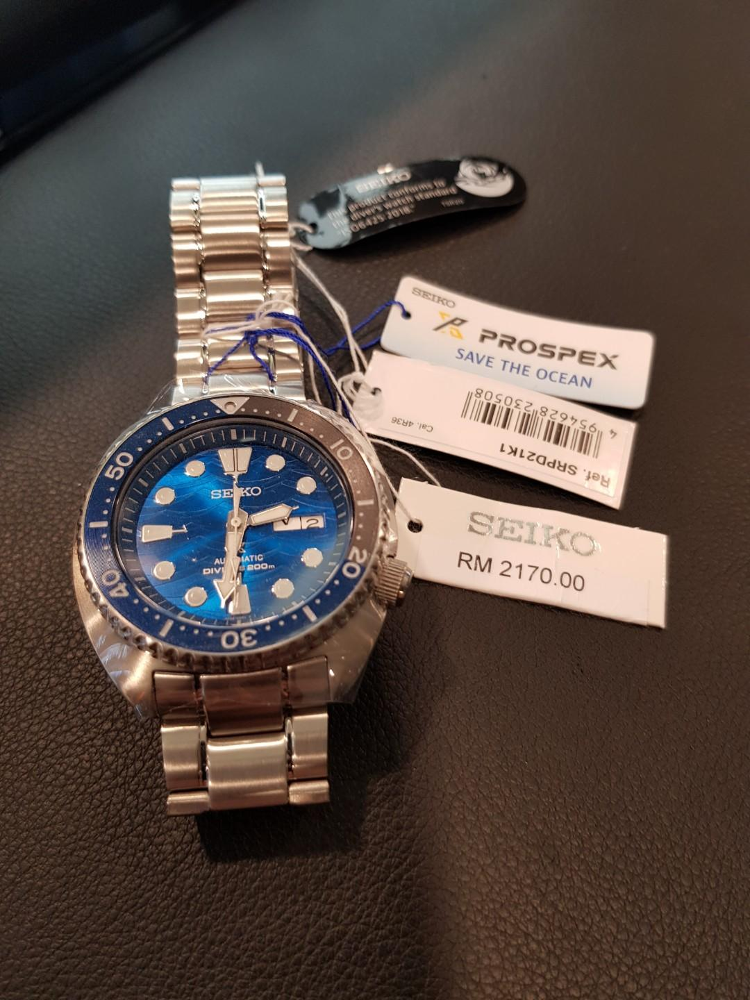 Brand New Seiko Prospex Save The Ocean- The Great White Special Edition Turtle Divers 200m