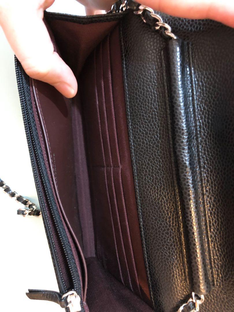 Chanel Woc 牛皮 麗枝皮購自香港半島 超級新 wallet on chain