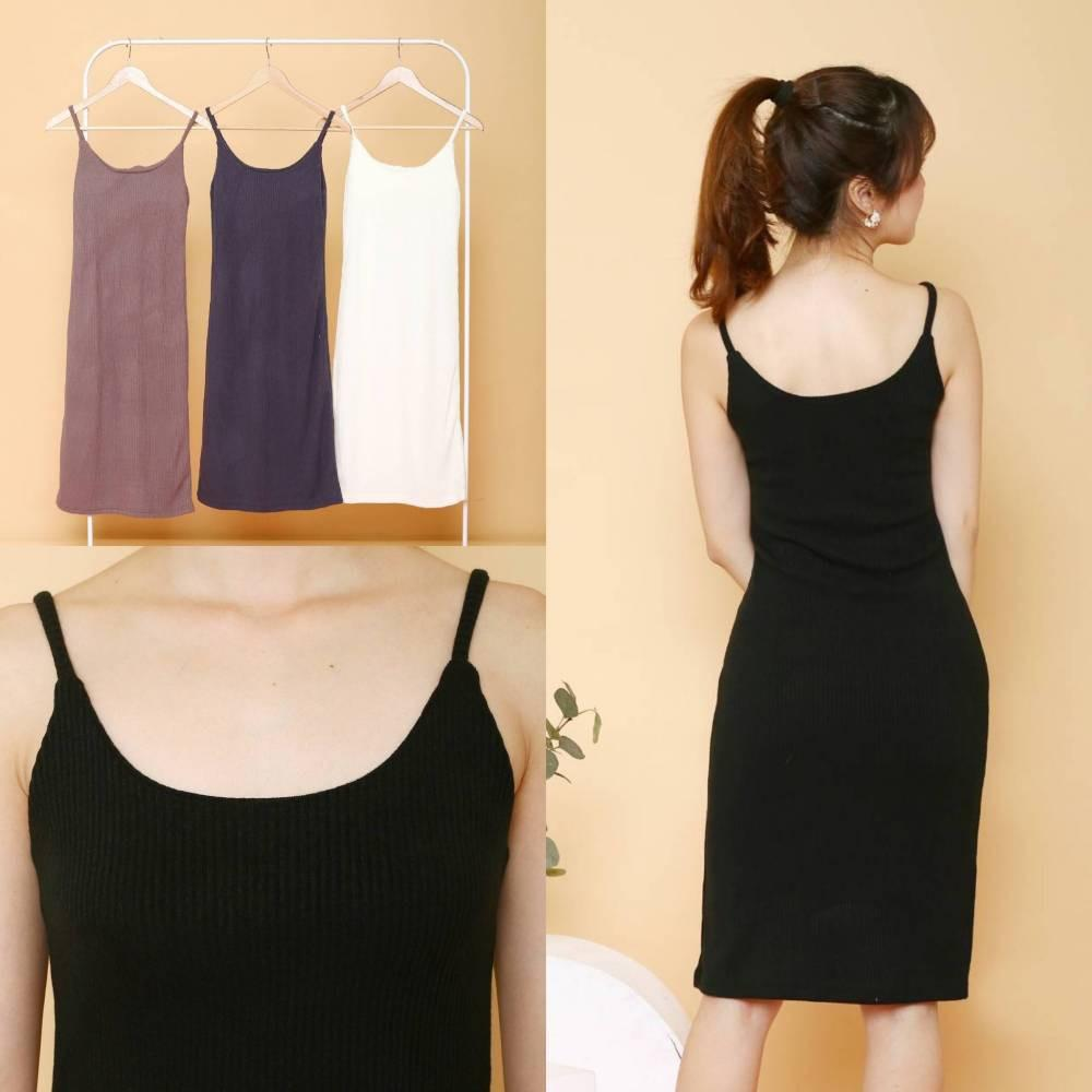 D6874 Knitted Bodycon Tankdress dress tanktop rajut import drwss pantai dress rajut import dress tanpa lengan