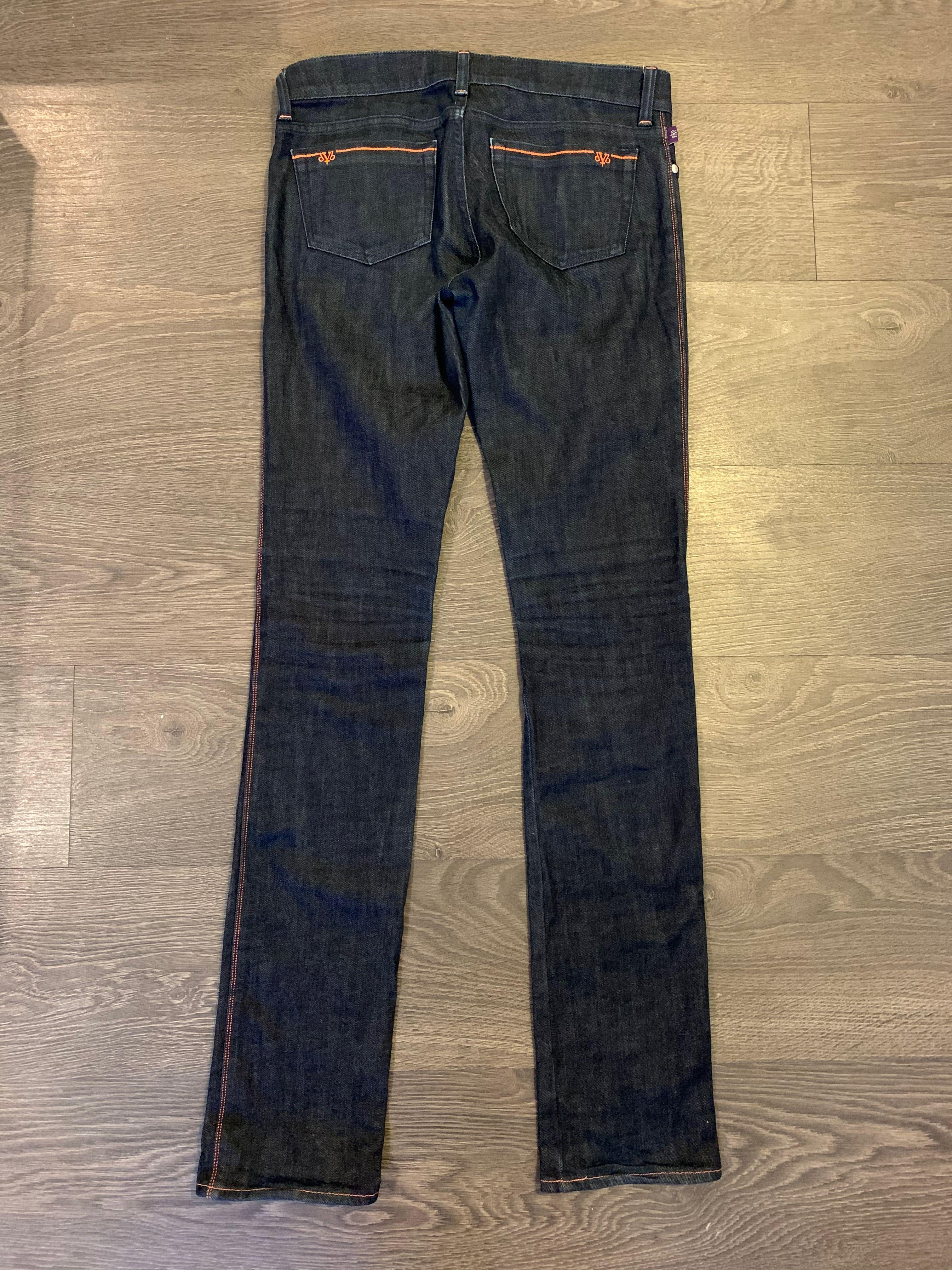 DVB Victoria Beckham Dark Blue Skinny Jeans Size 26