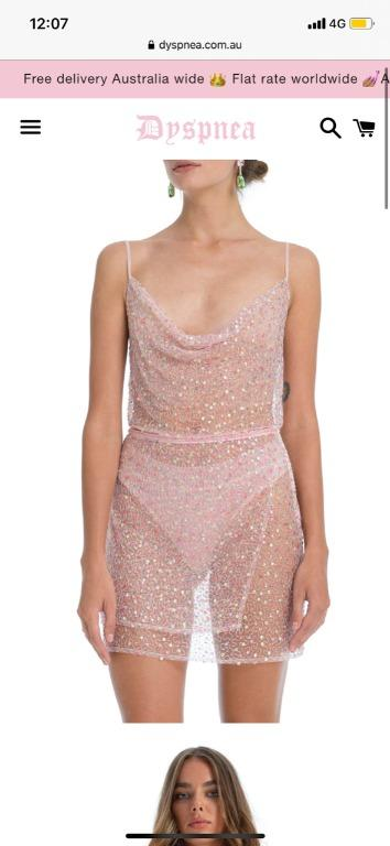 Dyspnea Ms Slinky Cami pink With Jean bec and & bridge tuchuzy Zimmermann Alice McCall realisation par maurie and & eve rat boa Chanel Gucci balenciaga verge girl manning cartell festival sequin glitter