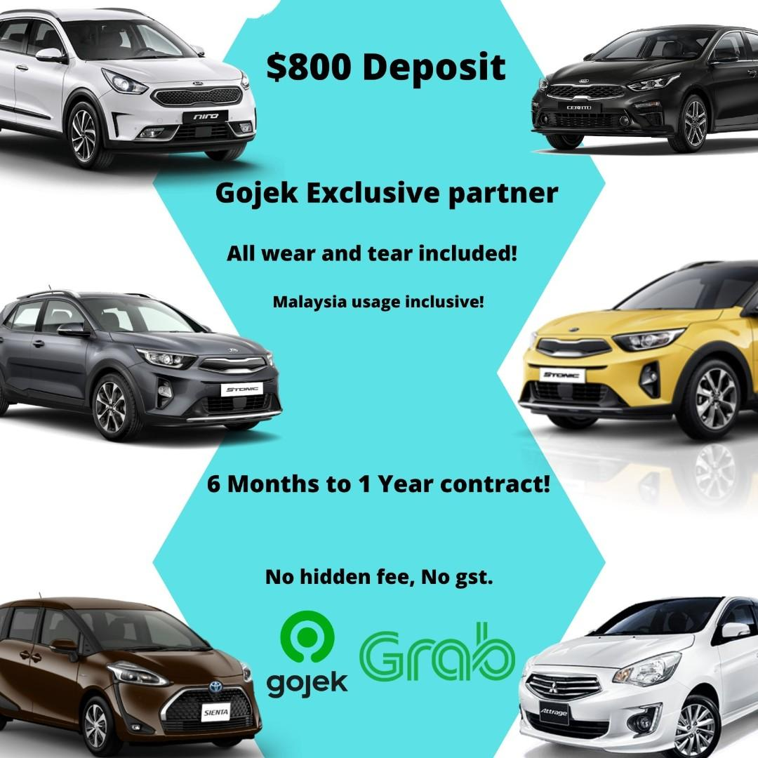GOJEK DRIVER/GRAB DRIVER CLICK HERE Brand New Cars For Lease! Very reputable company!