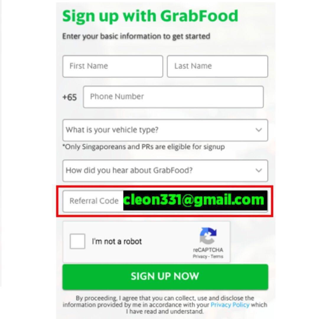 Grabfood Refer Delivery Rider $500 Bonus - Up to $30/h