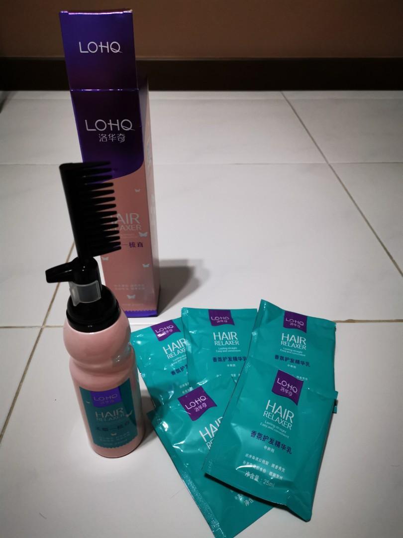 Hair straightening cream with comb home rebonding