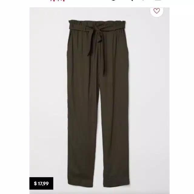 H&M Paperbag Trousers No Belt