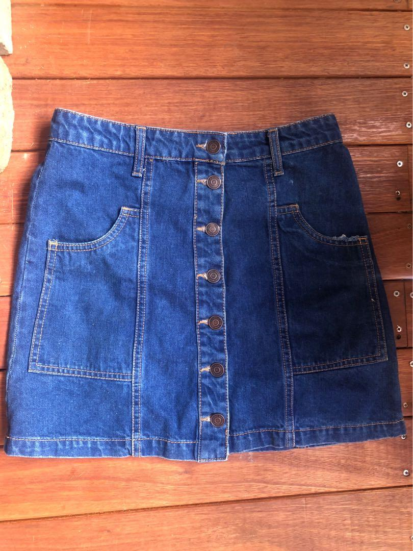 Jeans mini skirts size S good condition Stradivarius