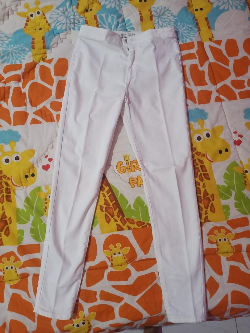 Jegging / white pants / celana jegging