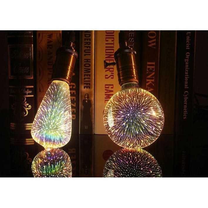 Lampu Bohlam LED Dekorasi Fireworks 3D E27 220V 4W - A60 TItanGadget