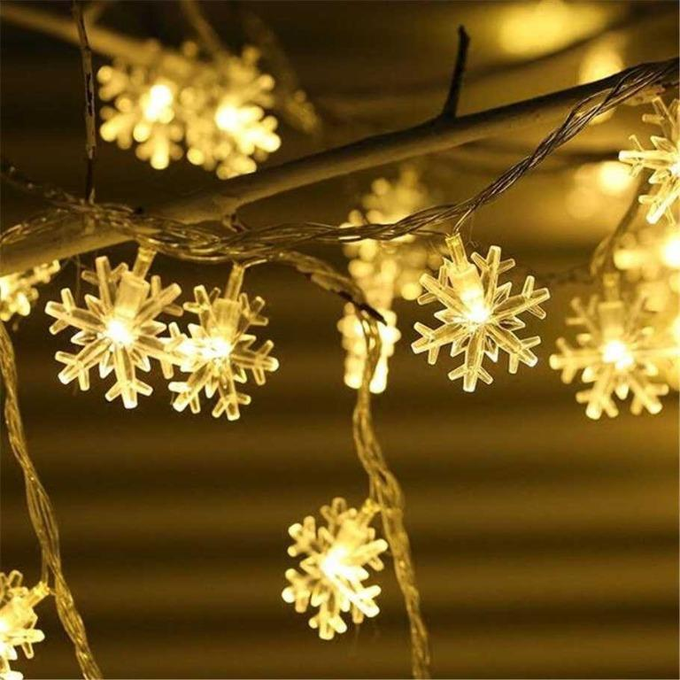 Lampu Hias Dekorasi Snowflake Christmas Light Battery 20 LED - HH-002 TItanGadget