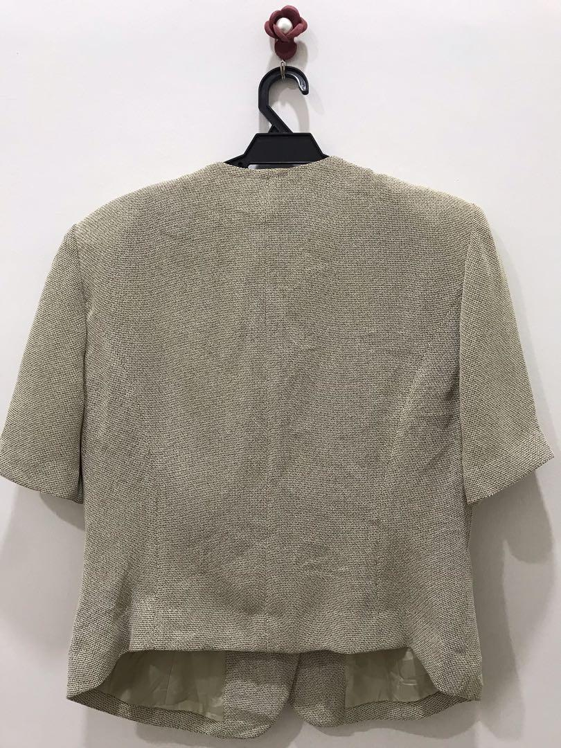 Loverich Net Jacket/Blazer/Coat Short Sleeve Button Up