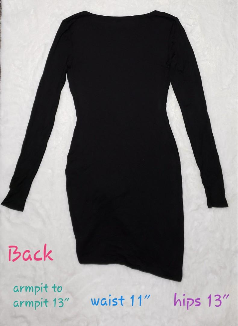 Marciano - black longsleeve long top / super short dress