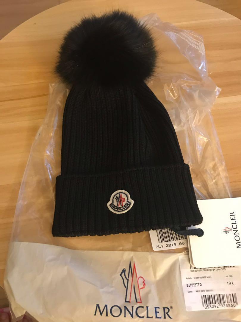 Moncler黑色冷帽子100%正品