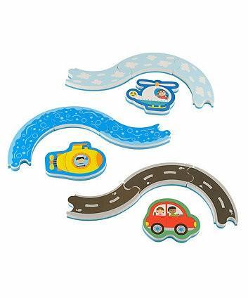 Mothercare & ELC Toys Fair - Track and Vehicle Bath Puzzle (bath toys)