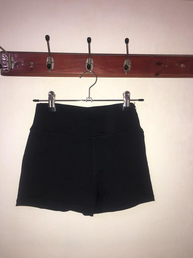 Muscle Nation High Waisted Scrunch Bum Workout/Gym Shorts - Black