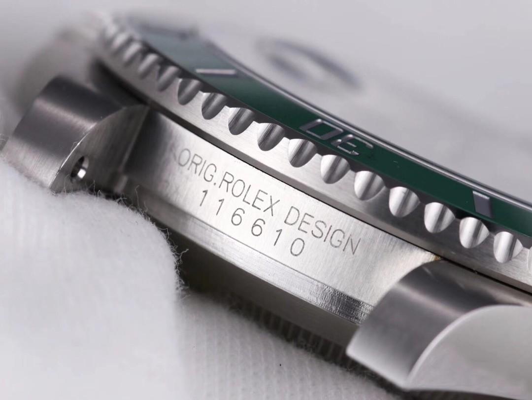 N Factory NOOB V10 N厂最新版水鬼 R0lex Submariner 116610 Oyster Perpetual Cal.3135 904L (Black & Green)