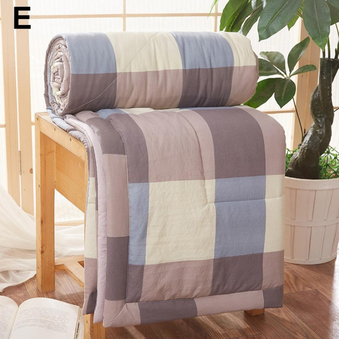 [New] Cozy Comfortable Air-condition Blanket Quilt Duvet Comforter King Queen Twin Single Size Blanket Quilt Duvet Comforter