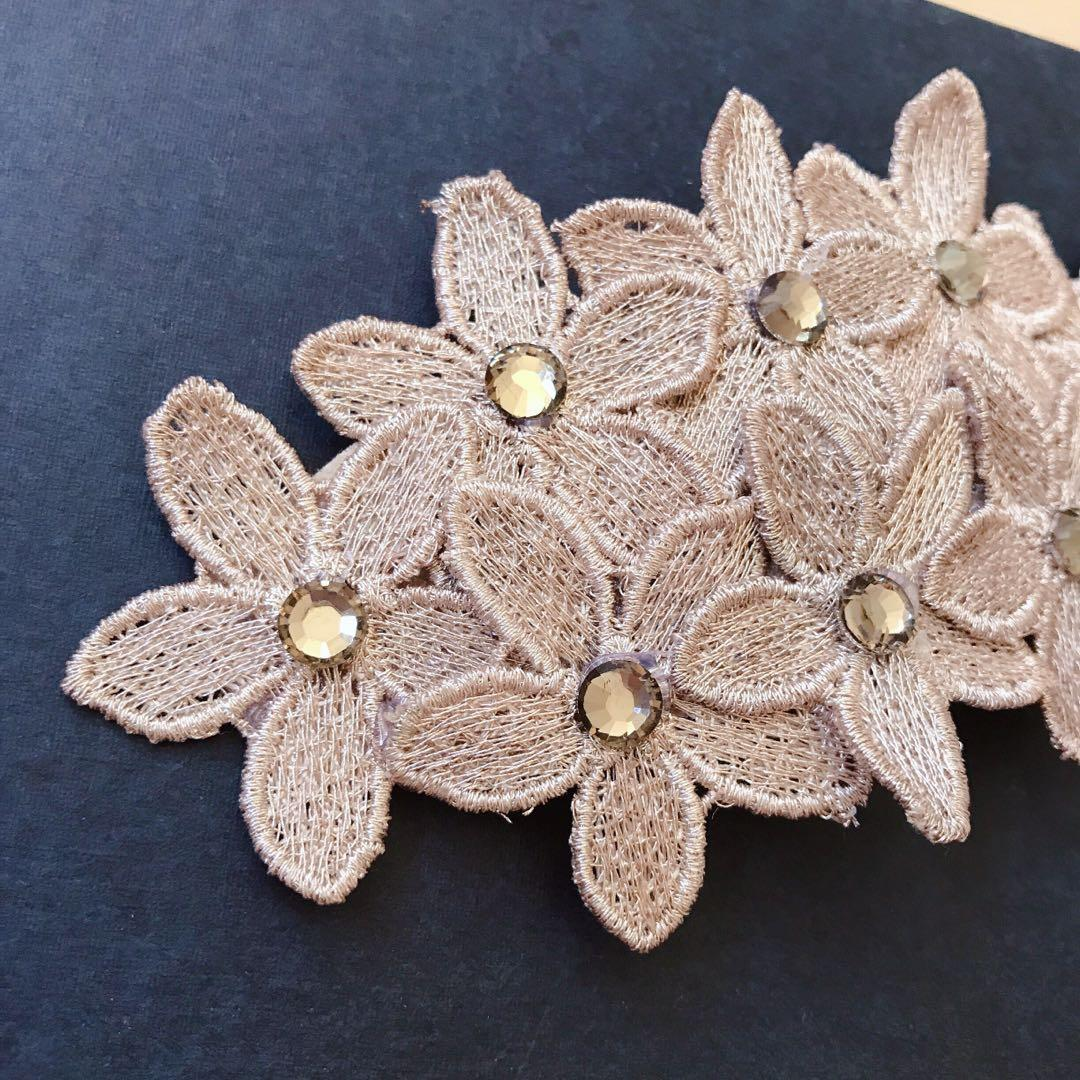 *NEW* embroidered handmade hair clip
