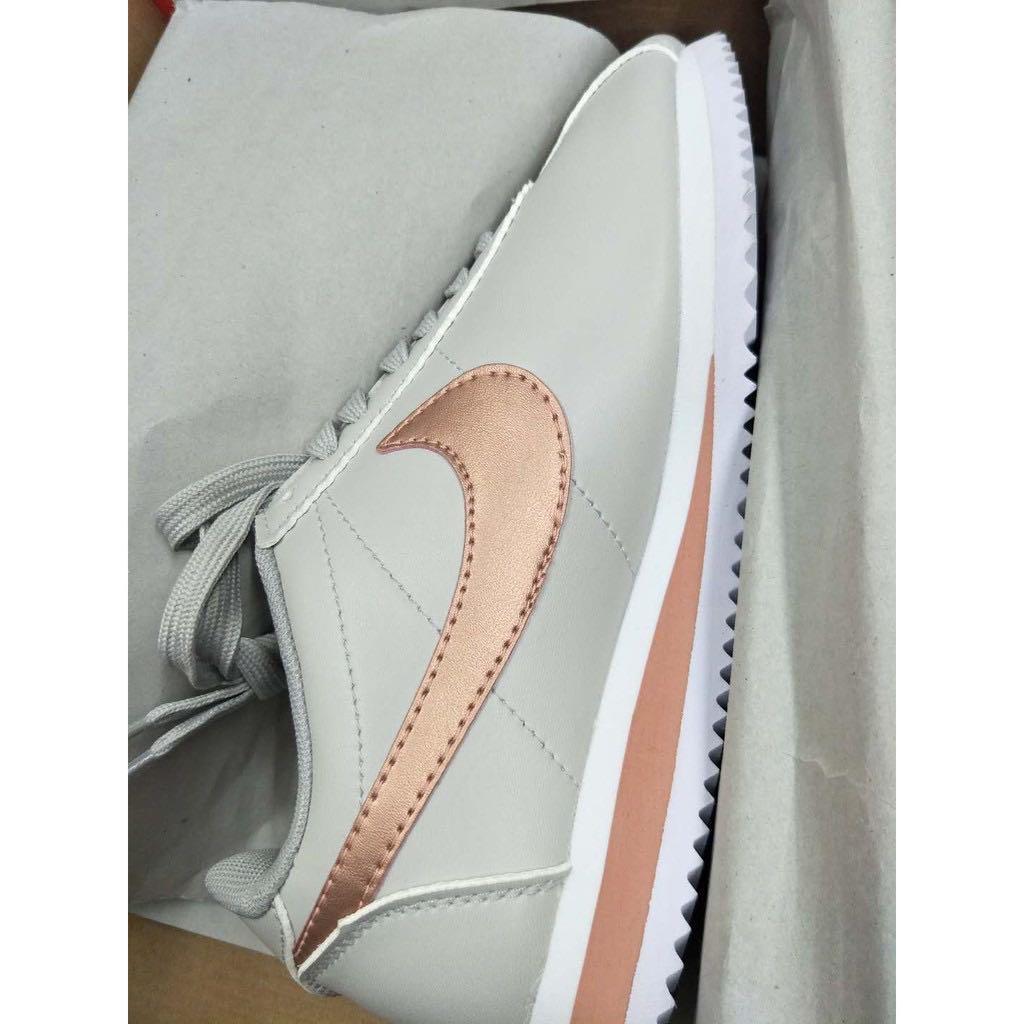 Nike Cortez 杏色 淺灰 玫瑰金 乾燥玫瑰 粉勾 阿甘 阿甘鞋 女鞋807471-013