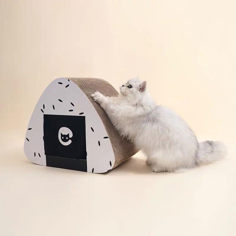 Onigiri House Cat Scratcher