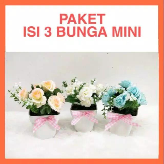 Pot bunga mini tanaman hias palsu artificial