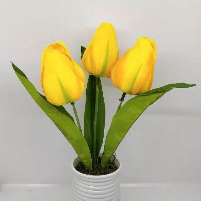 Pot bunga tulip tanaman hias palsu artificial