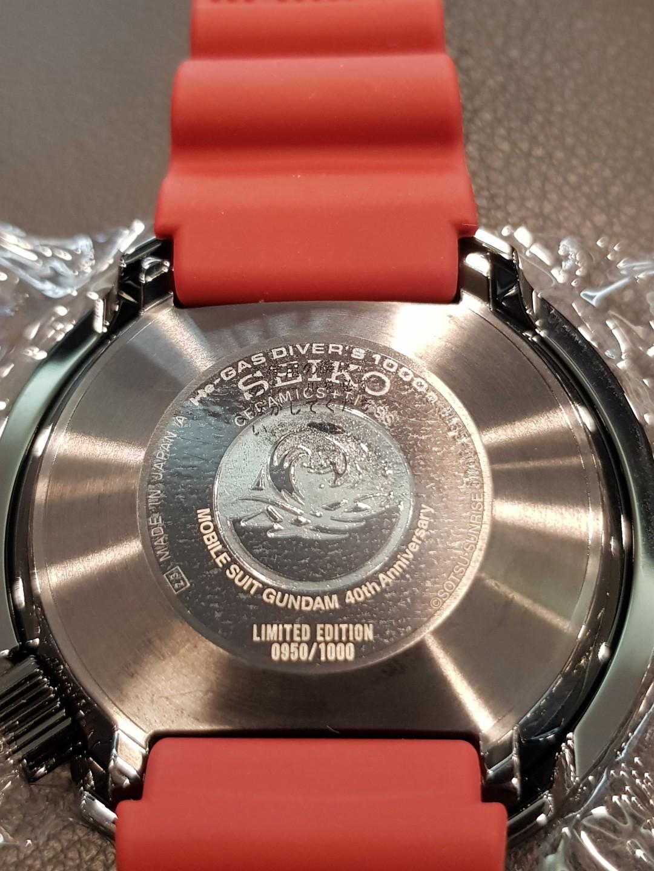 Seiko Prospex Gundam Char Zaku MS-06S Limited Edition 100 pieces Professional Diver's 1000m