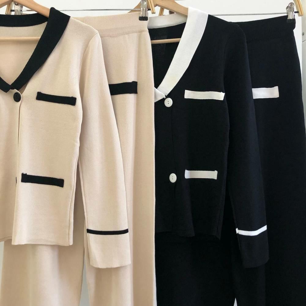 Setelan wanita Premium Knit Set Top & Pants SET5593 seteoan rajut setelan blouse setrlan celana setelan import setelan kerja setelan kantor