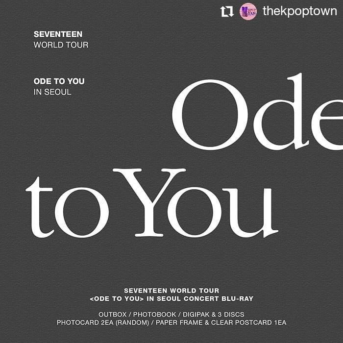 SEVENTEEN WORLD TOUR [ODE TO YOU] IN SEOUL BLU-RAY