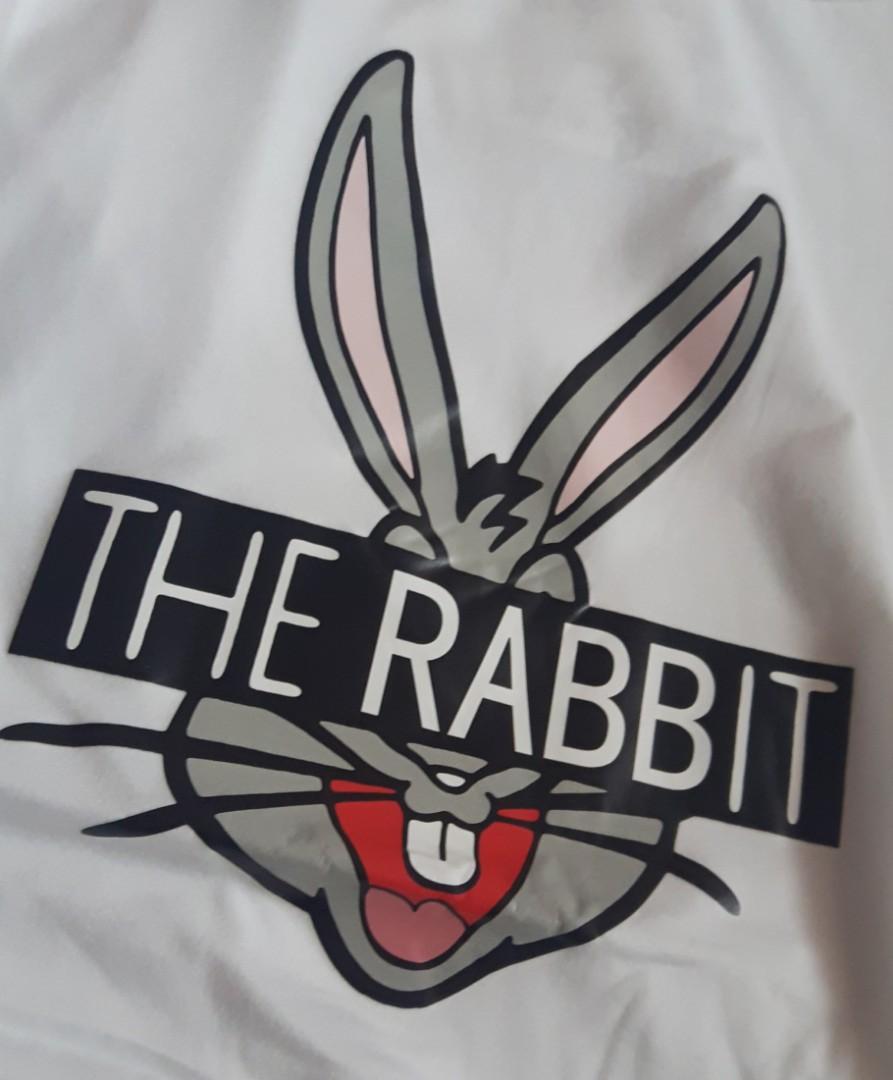 圓領卡通兔字母百搭T