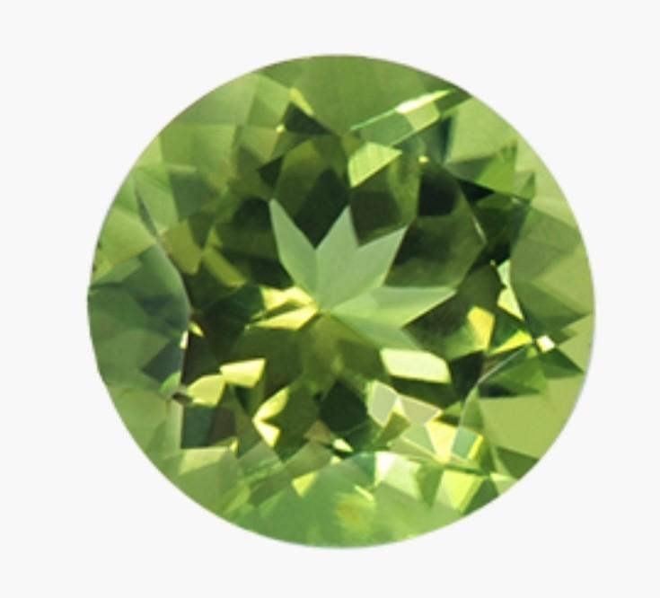Thin Shank Cushion Cut Peridot Ring With Diamond Accents