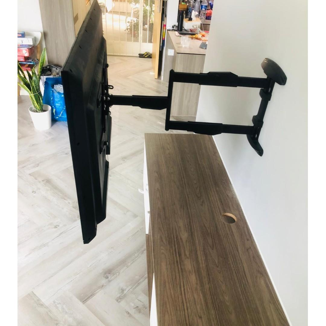 TV mount Full Motion  for Display up to 55″ (90 Degrees  whatsapp9856 7355 pp1114