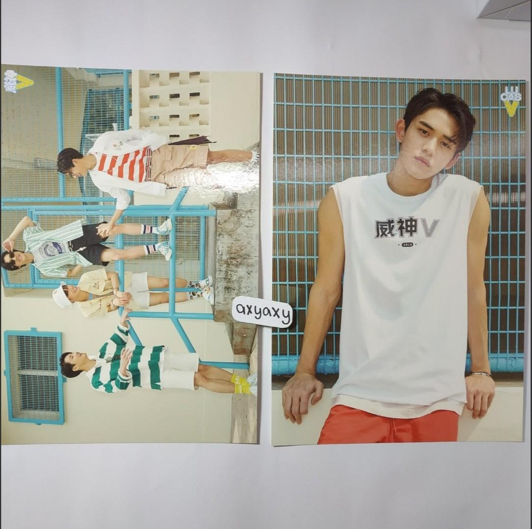 [WTS] Wayv Summer Vacation Kit A4 Poster Set (Unit and Lucas)