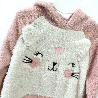 可愛貓咪女童休閒上衣